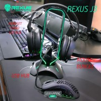 Rexus Headset Stand Bungee J3 RGB with USB Hub