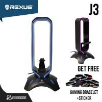 Rexus Headset Stand Bungee J3 RGB with USB Hub