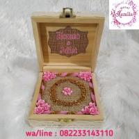 jewelry box kotak tempat mahar perhiasan gelang