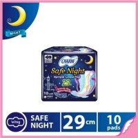 Charm Pembalut Safe Night 10 pads Wing 29cm