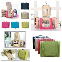 Travel Toiletries Bag Organizer Pouch Tas lipat resleting kanan kiri