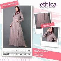 Gamis Dress Muslim Ayumi 106 Maroon By Ethica Murah SBIC01791