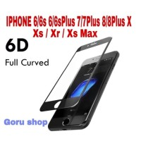 Tempered glass 6D full iphone X Xr Xs 11 11pro 11 pro max 6 7 8 plus