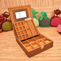 New Design Premium Brown Croco Jewelry Box / Kotak Perhiasan & Jam