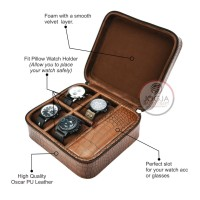 PREMIUM Travel Watch Box / Tempat Jam tangan travel / Kotak Jam Tangan