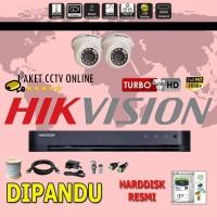 Paket CCTV Hikvision TURBO HD ( 2 Channel ) Pasang Dipandu