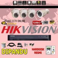 Paket CCTV Hikvision TURBO HD ( 4 Channel ) Instalasi Pasang Dipandu
