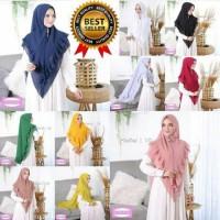 Khimar hijab PLISKET jilbab instan syari kerudung