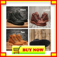 Sepatu Boot Pria Crocodile Morisey Sleting Boots Safety Ujung Besi Tra