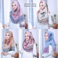 Hijab Pashmina Instant Pashtan Sala Motif Line Jilbab Instan