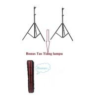 Paket 2 Tiang Standlight Best Power BONUS Tas Standlight