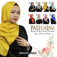 Jilbab Pashmina Hijab Bahan Poly Cotton Premium (JPY068) Batik alhadi