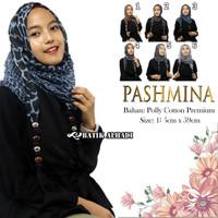 Jilbab Pashmina Hijab Bahan Poly Cotton Premium (JPY072) Batik alhadi