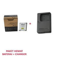 Baterai ENEL19 + Charger MH 66 /paket charger + baterai enel19 + mh 66