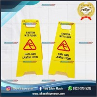 Floor Sign Caution Wet Floor / Awas Lantai Licin / Maintenance