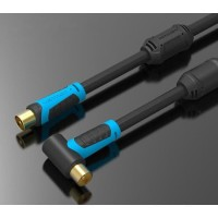 Vention A02 5M Kabel Coaxial Antena TV Male to Male 90 Degrees
