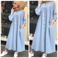 Baju Long Dress Wanita Muslim Terbaru Busui Pakaian Gamis Zahra Store