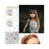 Bando Model Telinga Kucing Bahan Metal Warna Silver Gold untuk Wanita