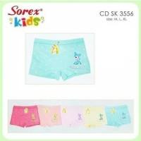 Celana dalam boxer anak cewek sorex kids girl sk3556 / 3556 Uk M aja