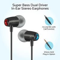Promate Wired Earphone Stereo - TuneBuds-1 Headset Earbud Handsfree