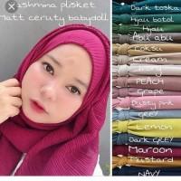 Pasmina plisket prizket pashmina bela square polycoton hijab jilbab