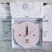 Souvenir Jam Kayu Custom/Souvenir Ultah/Souvenir Kantor/Baby One Month