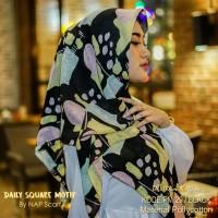 Hijab Daily Square Motif Black Pollycotton PM 29