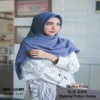 Hijab Daily Square Blue Jeans Potton Korea