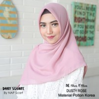 Hijab Daily Square Dusty Rose Potton Korea
