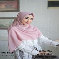 Hijab Daily Square Sweet Pink Potton Korea