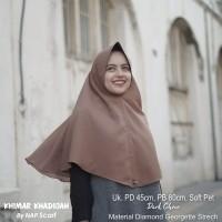 Hijab Khimar Khadijah Dark Choco Diamond Georgette Strech