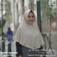 Hijab Khimar Khadijah Cream Diamond Georgette Strech