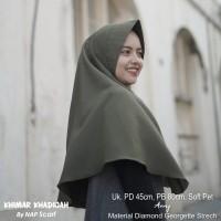 Hijab Khimar Khadijah Army Diamond Georgette Strech