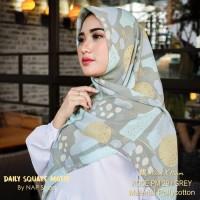 Hijab Daily Square Motif Grey Pollycotton PM 29