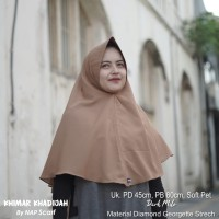 Hijab Khimar Khadijah Dark Milo Diamond Georgette Strech