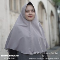 Hijab Khimar Khadijah Silver Diamond Georgette Strech