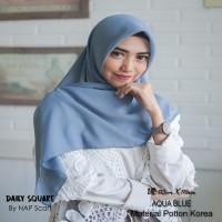 Hijab Daily Square Aqua Blue Potton Korea