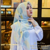 Hijab Daily Square Motif Babyblue Pollycotton PM 29
