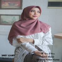 Hijab Daily Square Rose Wood Potton Korea