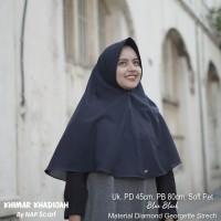 Hijab Khimar Khadijah Blue Black Diamond Georgette Strech