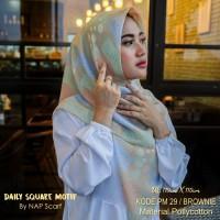 Hijab Daily Square Motif Brownie Pollycotton PM 29