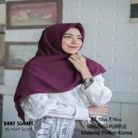 Hijab Daily Square Magenta Purple Potton Korea