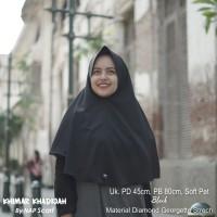 Hijab Khimar Khadijah Black Diamond Georgette Strech