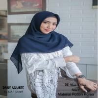 Hijab Daily Square Navy Potton Korea