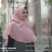 Hijab Khimar Khadijah Dusty Pink Diamond Georgette Strech