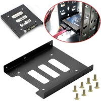 Bracket Mounting Kit Untuk HDD/SSD 2.5 Inch ke 3.5 Inch - Black