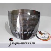 Visor Helm Zeus ZS610   IRIDIUM SILVER   Kaca Helm ZS 610