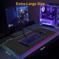 Gaming Mouse Pad RGB Desk Anti Slip Dengan Lampu Led 300 x 780 x 4mm