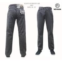 Celana Formal / Celana Pria -- celana cowok pria nevada kanvas reguler