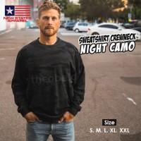 New States Apparel 9000 Sweatshirt Crewneck Night Camo (S M L XL XXL)